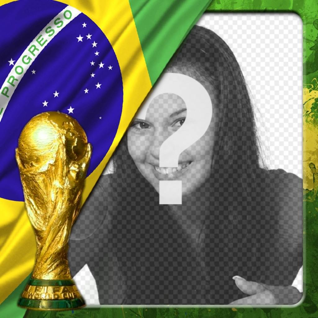 Effect for photos with the flag of Brazil and the world cup, where you can put your photo at background