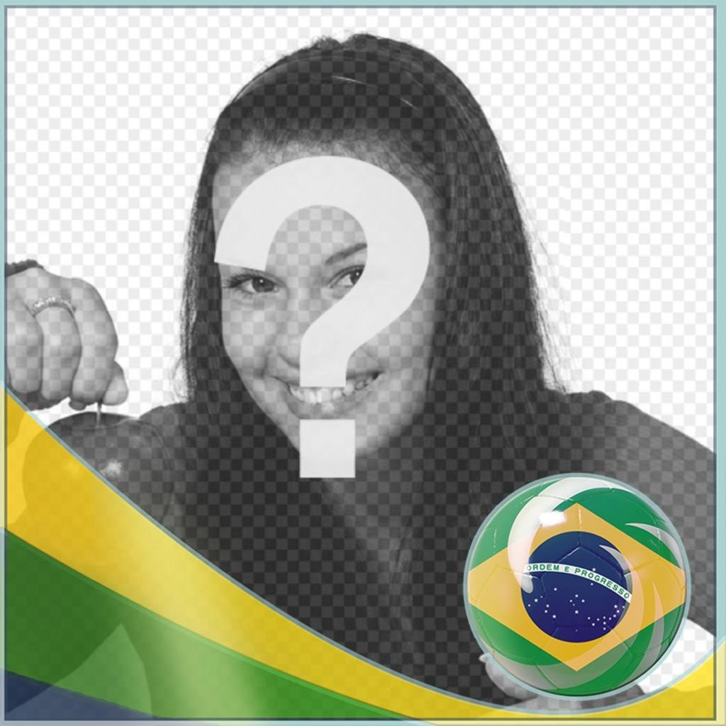 Montage with flag of Brasil to add your background photos