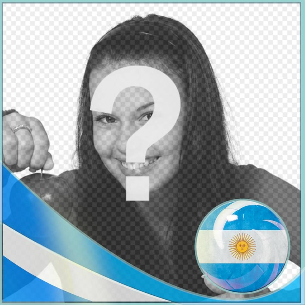 Photo frame with flag for Argentina for put a picture of you
