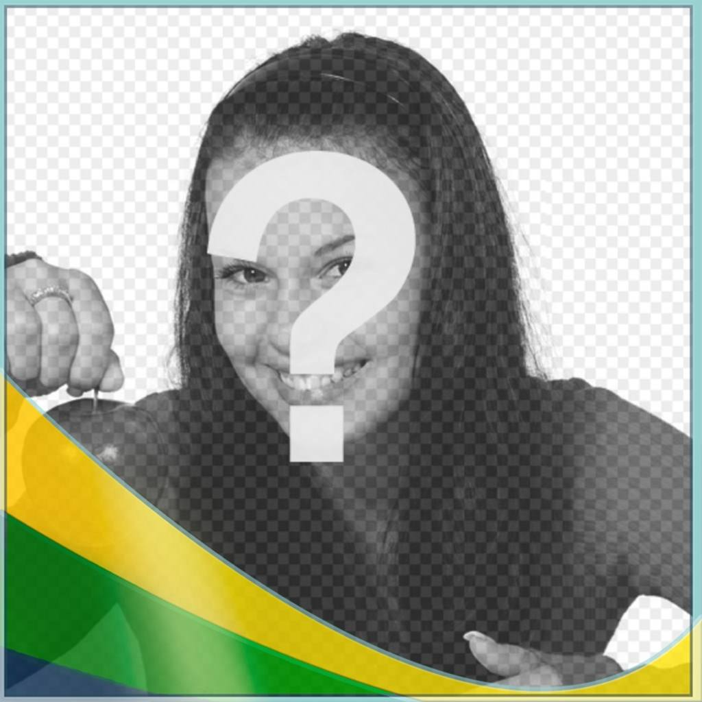 Photo effect to put colors of Brazil falg in your photo