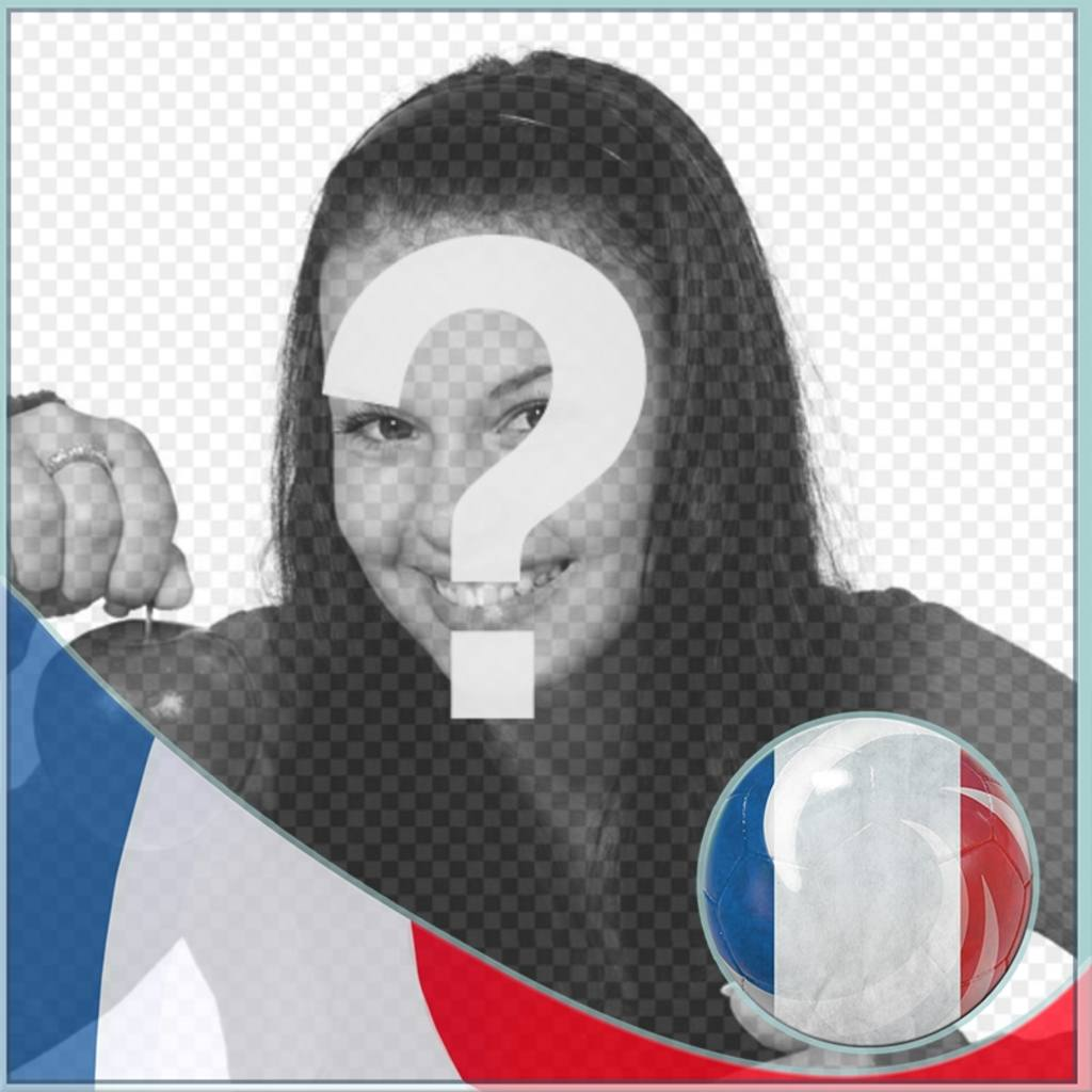 Montage with Flag of France to put profile on social networks