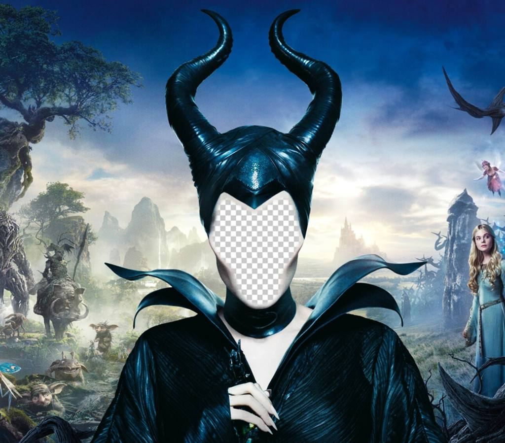 Put Your Face In This Photomontage And Become In Maleficent