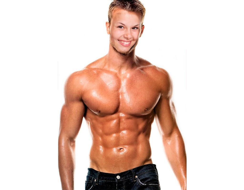 Photomontage of a muscular and strong man to put a face