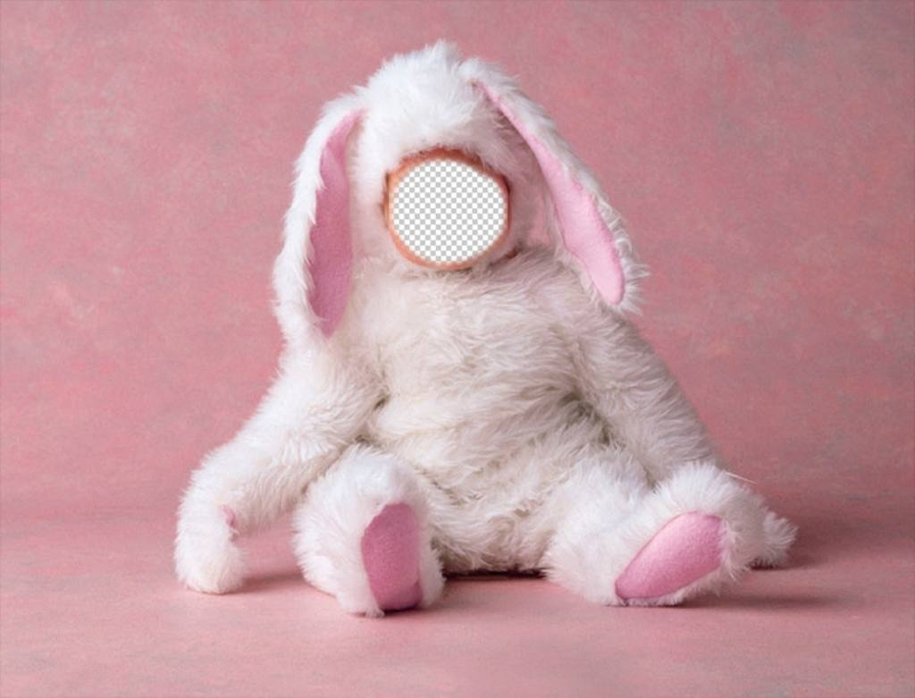 Photo effect of a baby dressed as bunny