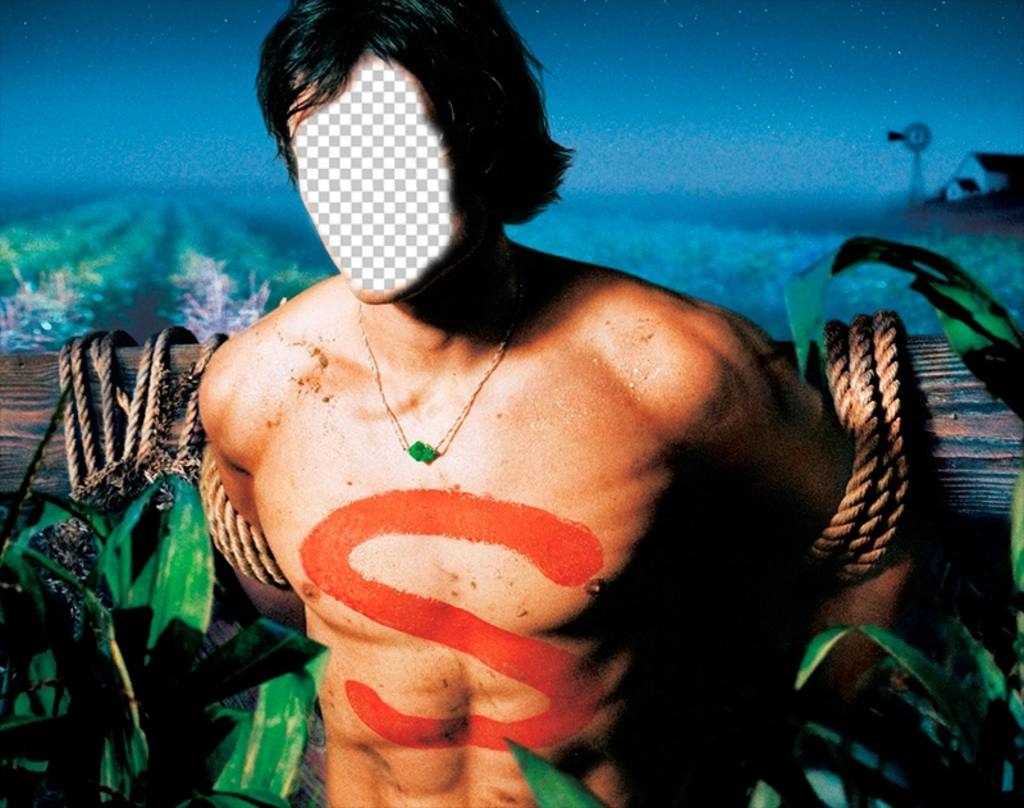 Photomontage of Smallville character shirtless to add your face