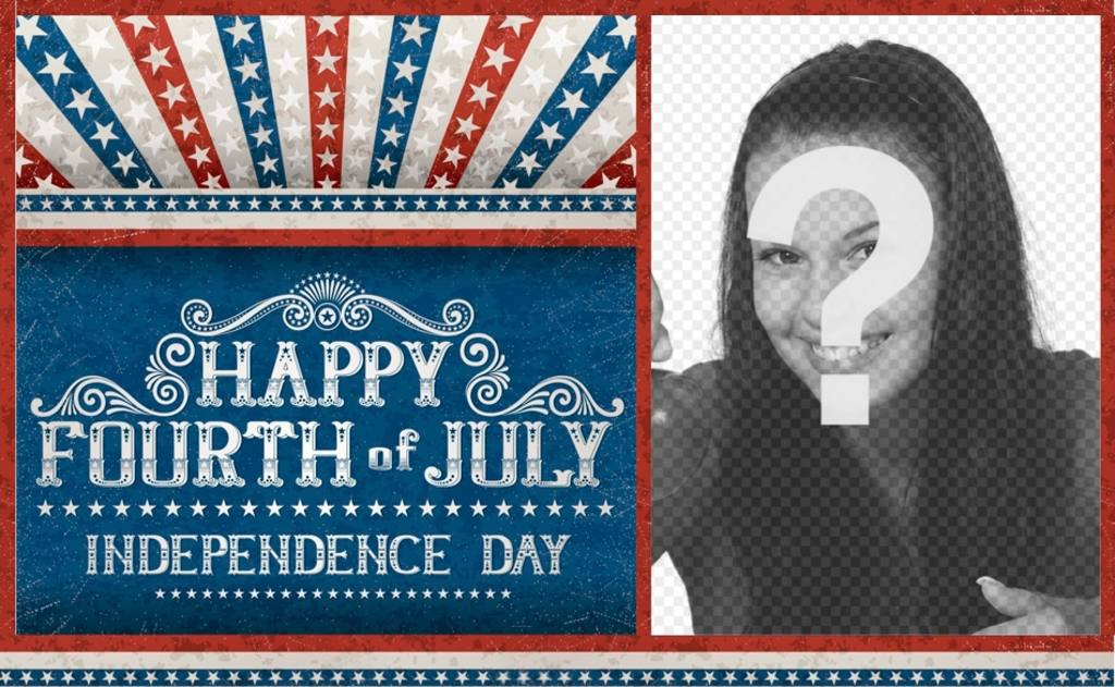 Postcard to cheer the Independence of the United States of America