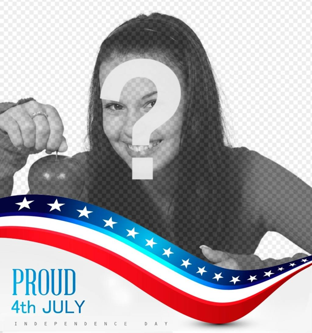 Frame to put your picture next to the American flag on the Independence Day