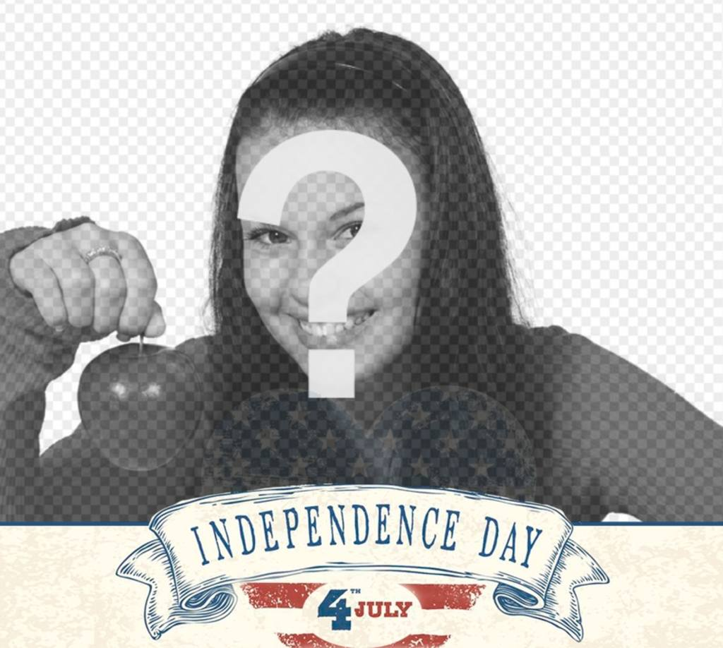 Template for photos of the Independence Day of USA