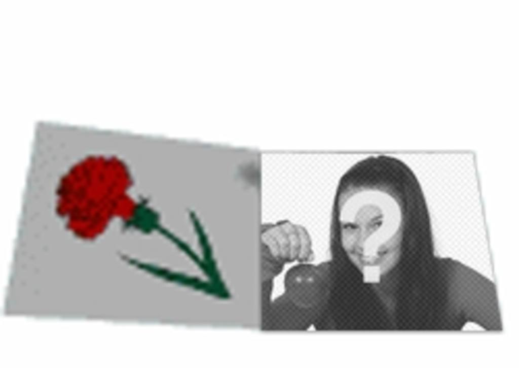 Custom animation animated love letter with a rose. With your photo