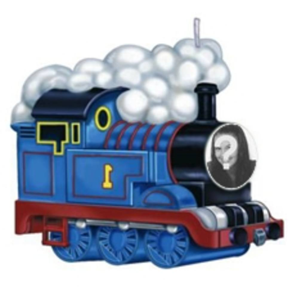 Animation of the train Thomas to put your photo