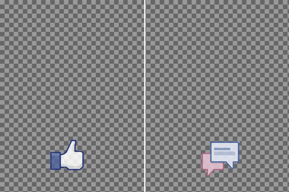 """Margins for facebook photo strip with """"like"""" and """"share."""""""