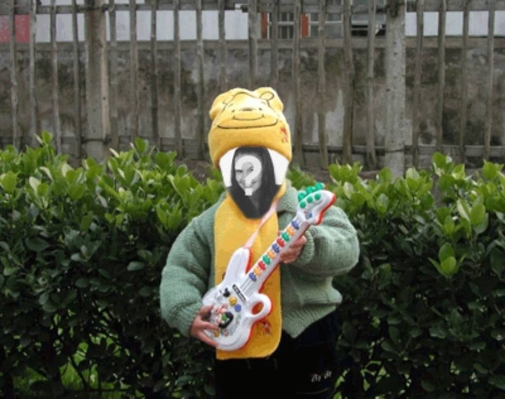 Funny animation to make your doll picture playing guitar