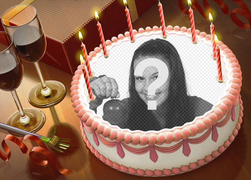 Put your picture on a birthday cake with this online montage