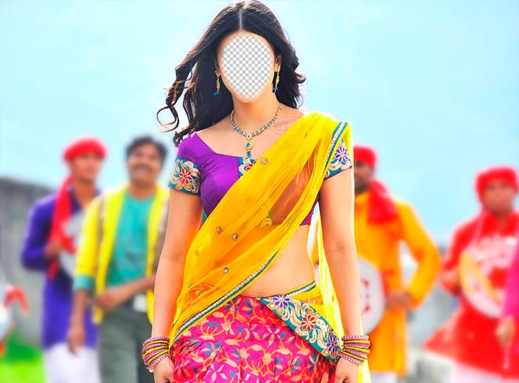 Become a Bollywood actress with this exotic photomontage