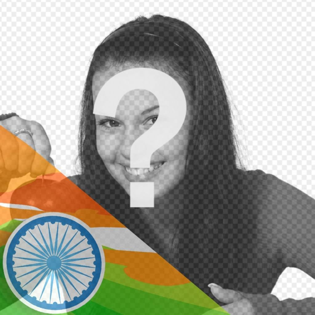 Illustrated flag of India to put in a corner of your photos