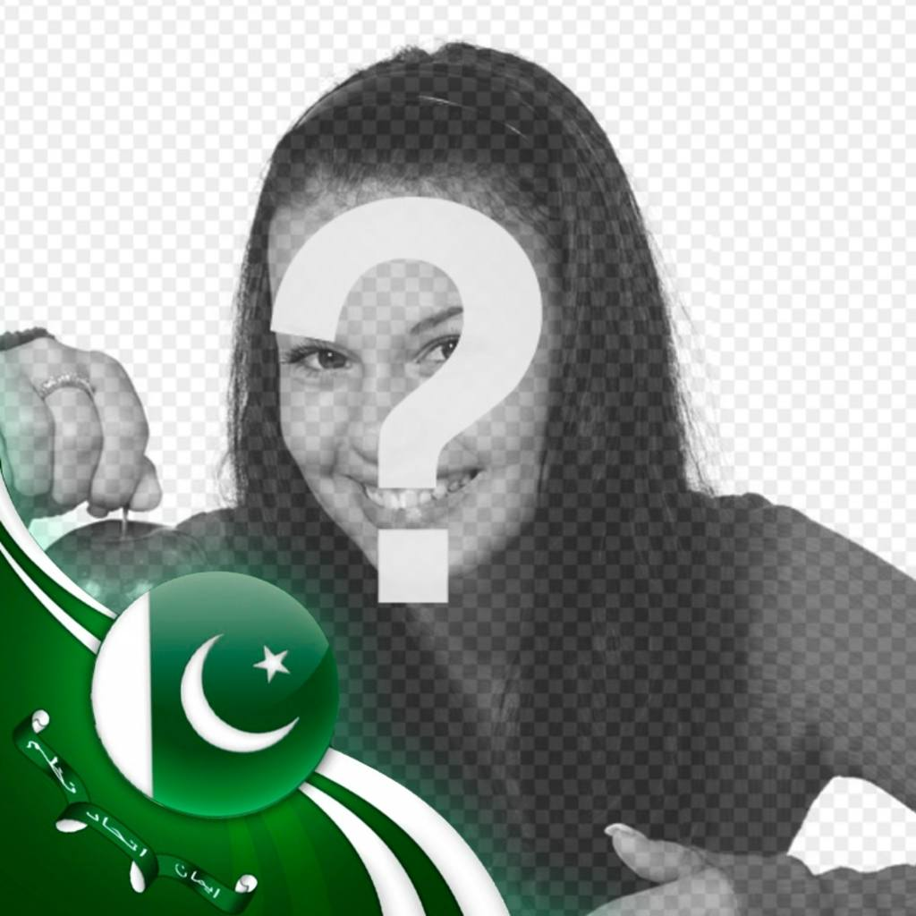 Effect for your profile picture with the flag of Pakistan on the side