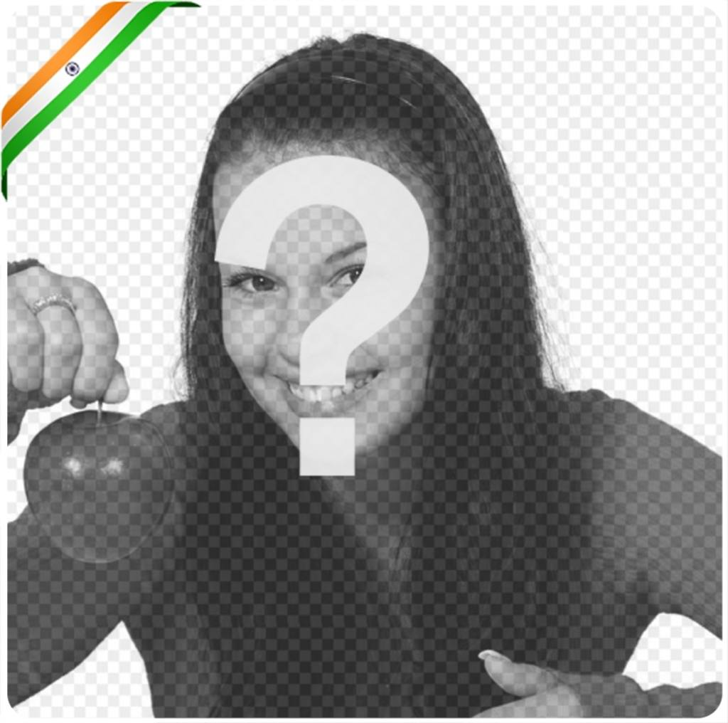 Ribbon with the flag of India to the corner of your image for free