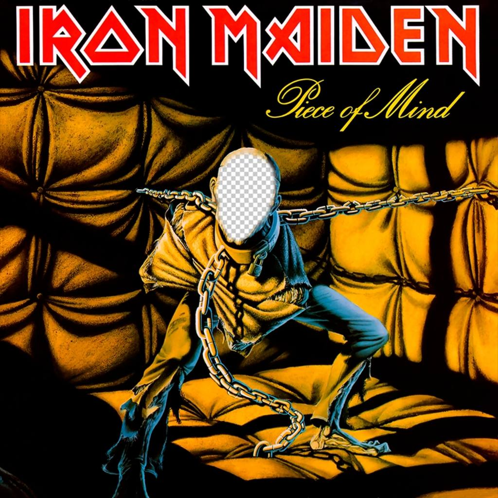 Photomontage of the CD cover of Iron Maiden to add your face