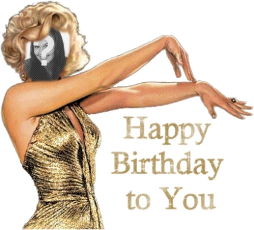 Happy birthday card with Marilyn Monroe customizable