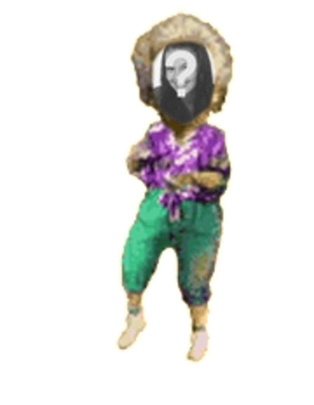 Animation of older woman dancing personalized with your photo