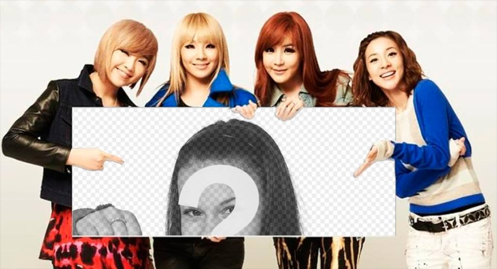 Photomontage with the band 2NE1