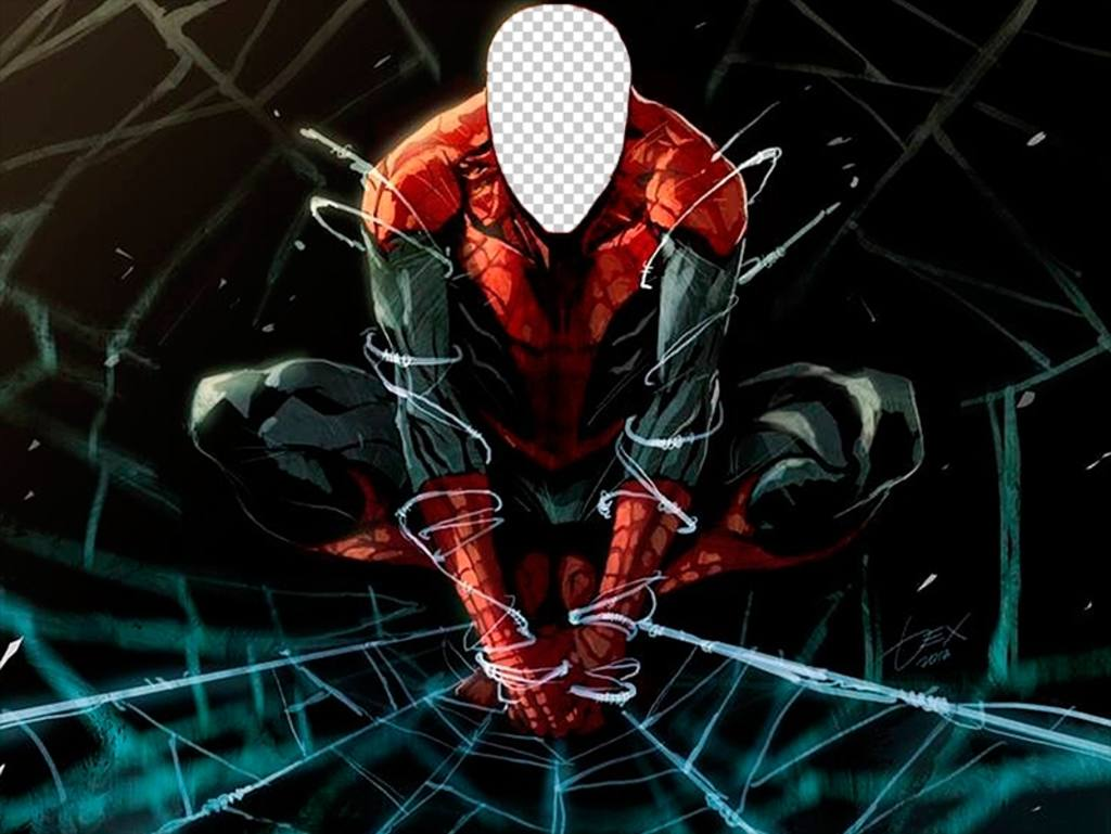 Photo effect of Spiderman to do with your face