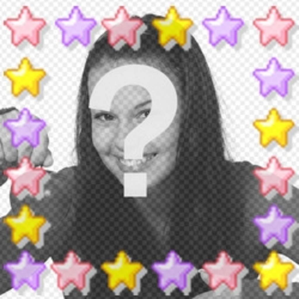 Animation of colored stars personalized with your photo, great for your avatar