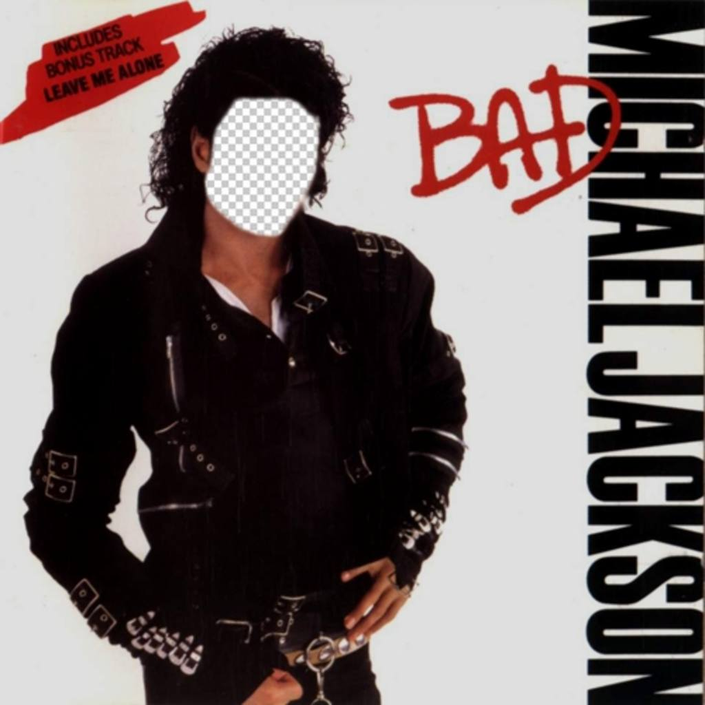 Be Michael Jackson on the cover of his album BAD