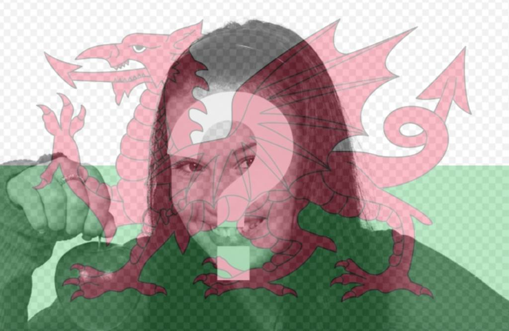 Put the flag of Wales in your photos as a filter