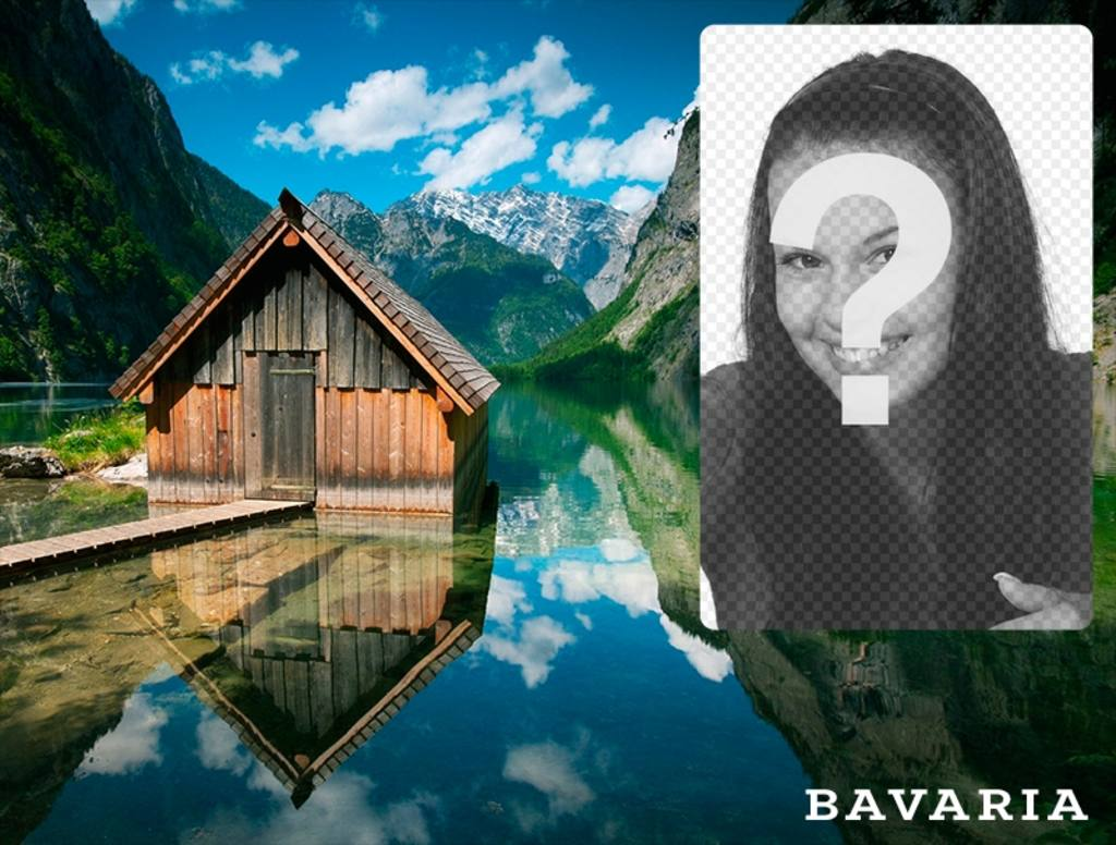 Bavaria postcard with a picture of a hut