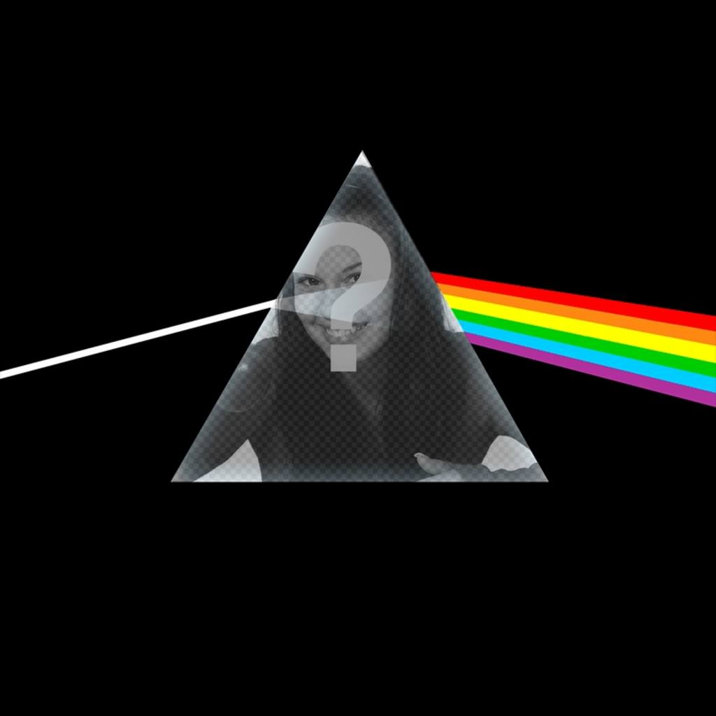 Photomontage with a Pink Floyd CD cover
