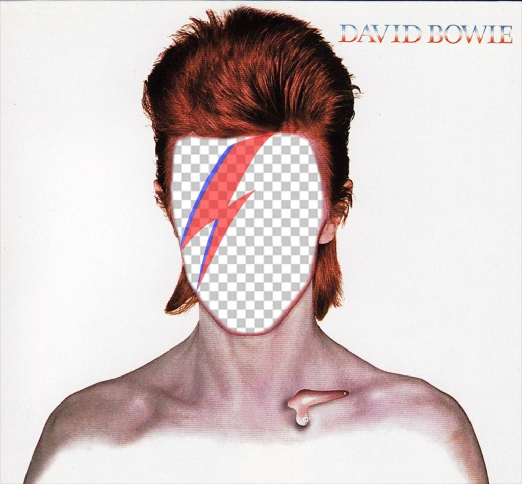 Photomontage with the CD cover of David Bowie