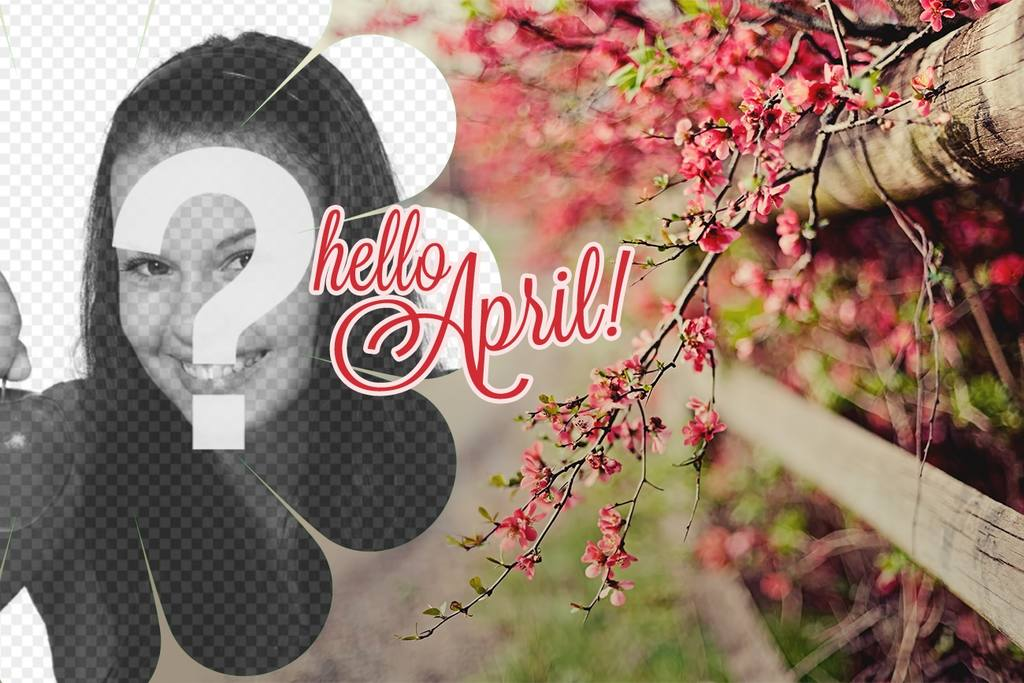 Spring wallpaper with the text Hello April!