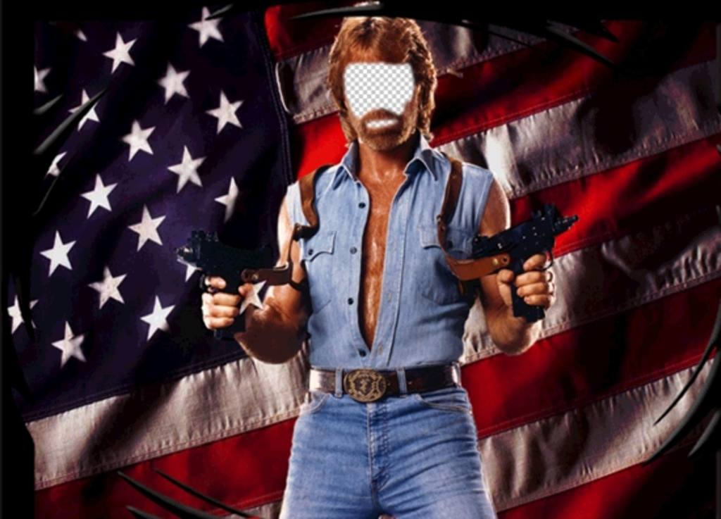 Photomontage of Chuck NorrisÑ American Hero to edit