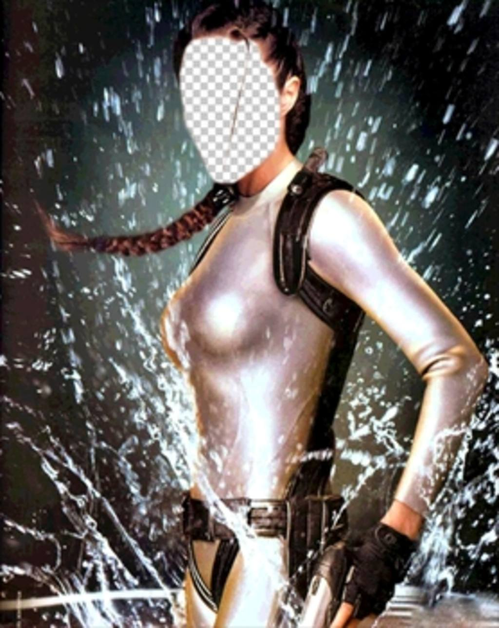 Become in the adventurer Lara Croft with this effect to edit