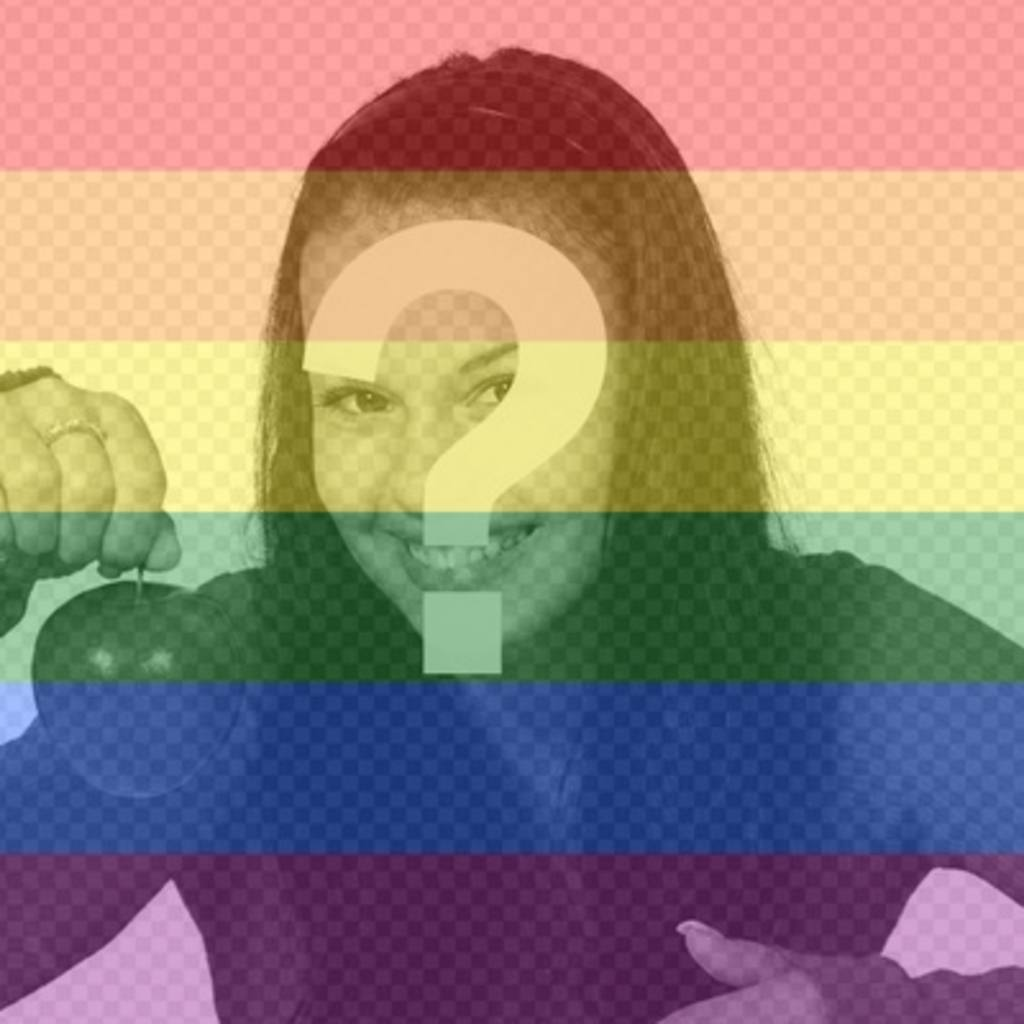 Put the rainbow colors of the gay pride in your photos
