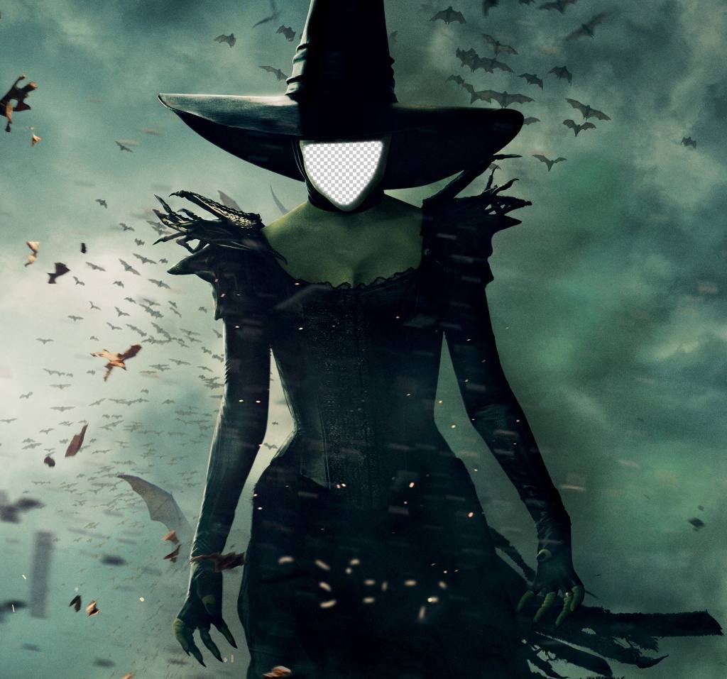 Photo montage of the Oz witch to put a picture of your face on it