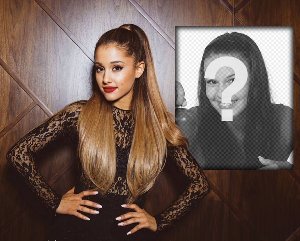Photo effect with Ariana Grande to put your photo