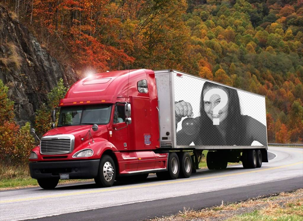 Photo effect of a truck to put your photo