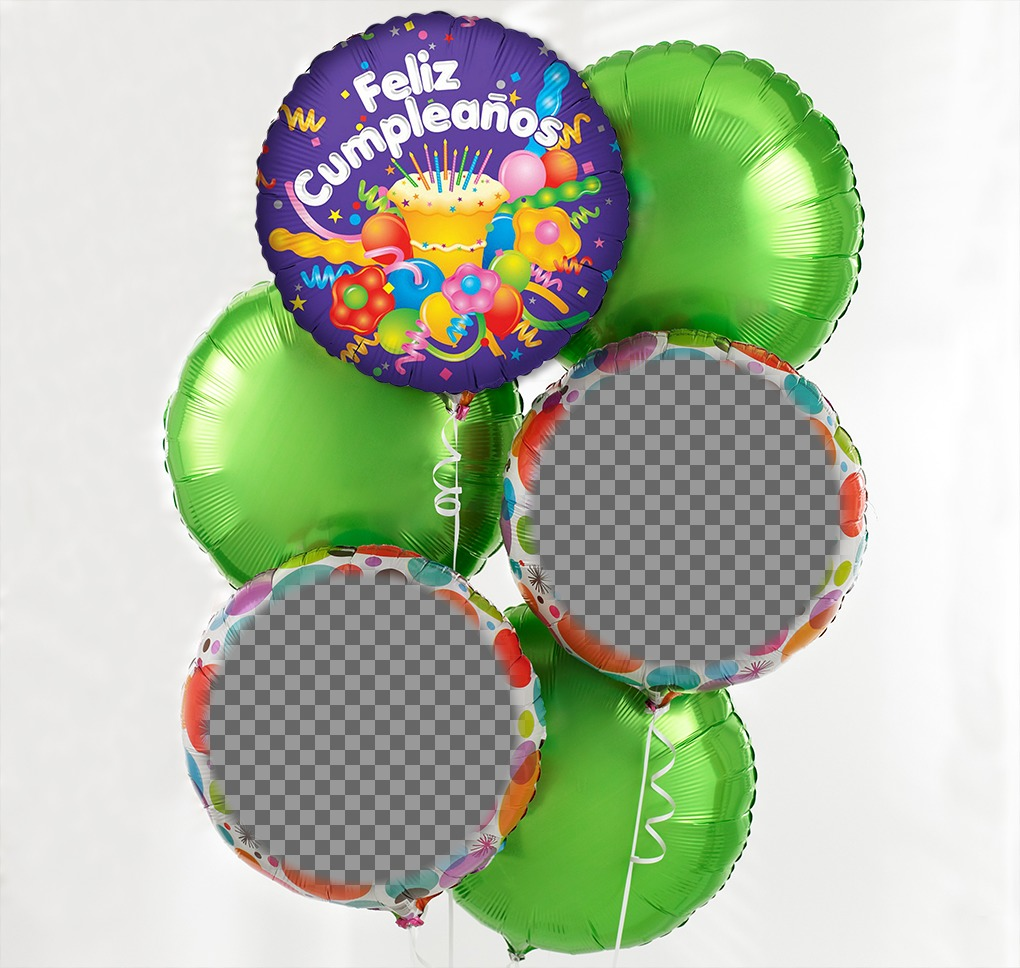 Photo effect of birthday balloons for two photos