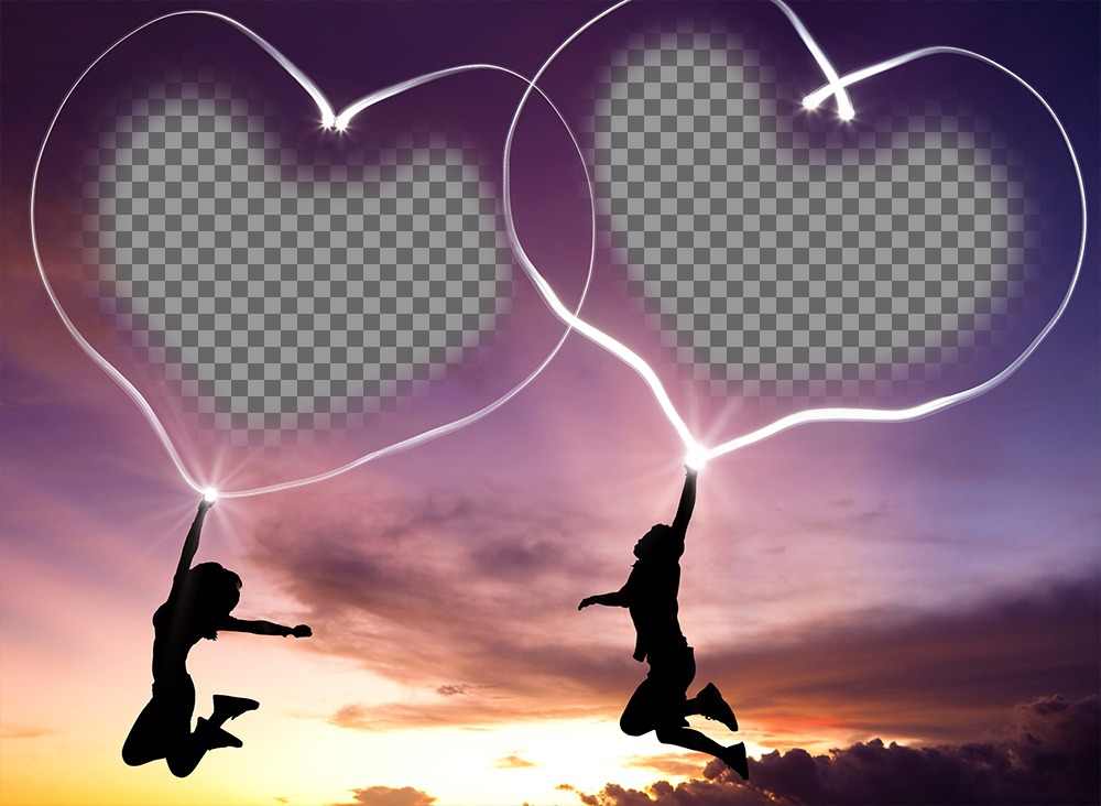 Photo effect of love to put two pictures