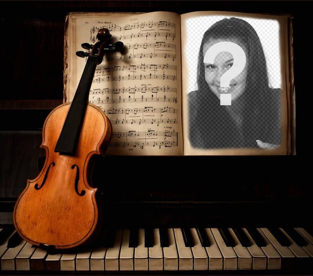 Upload your photo to this effect of a violin and piano
