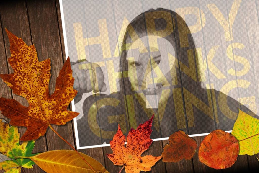 Happy Thanksgiving photo effect to your photo