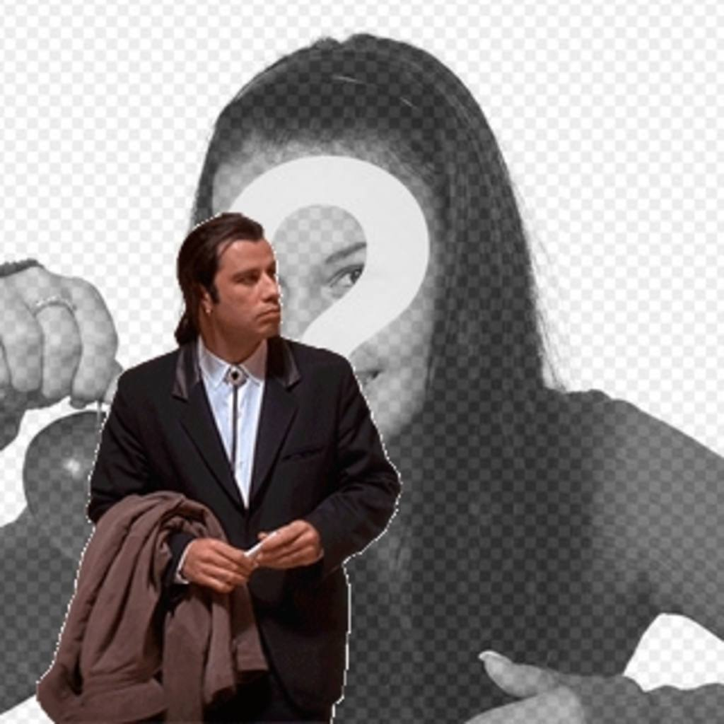 Online Meme Of John Travolta Confused To Put Your Background