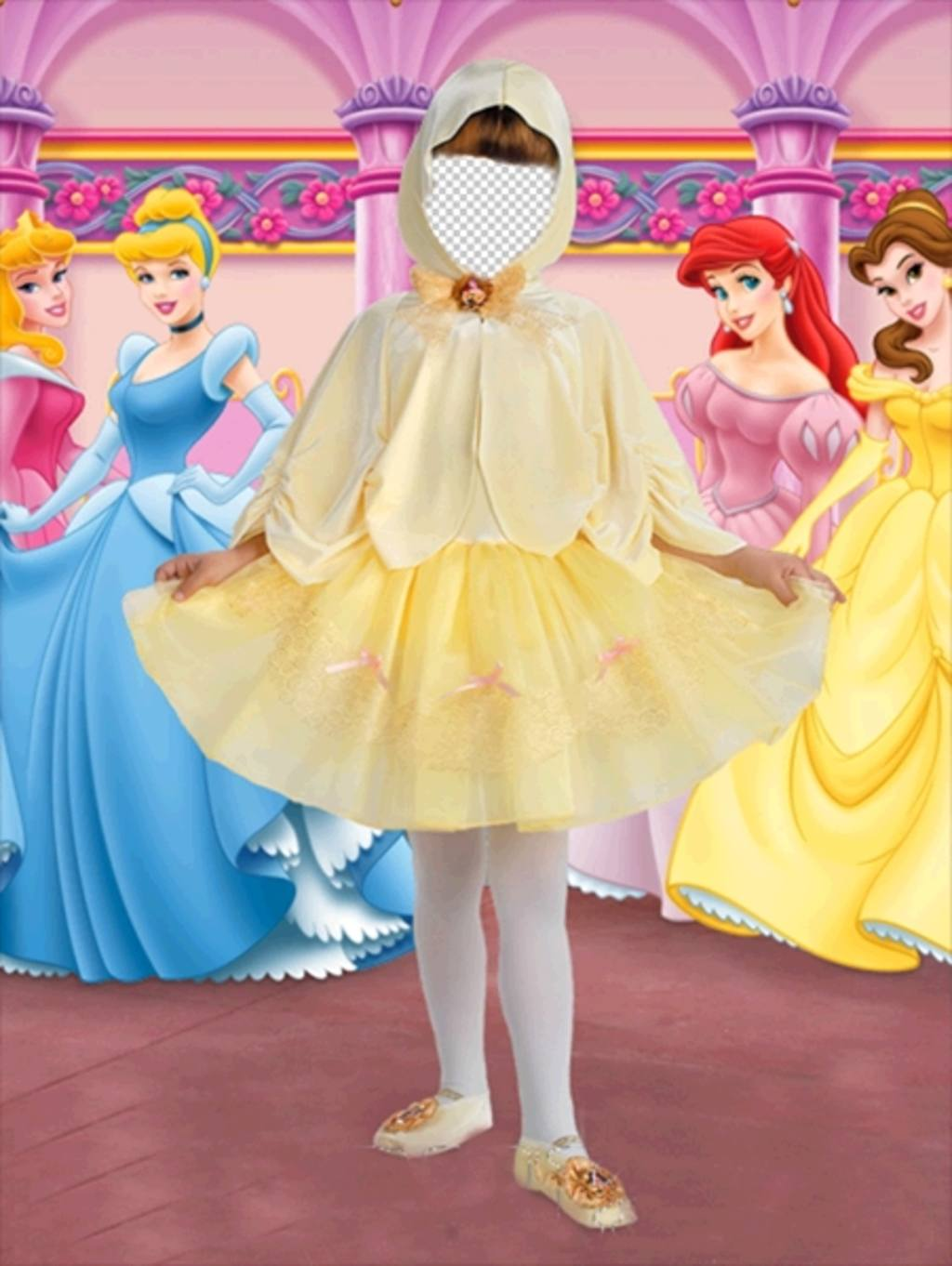 Photo effect of little princess costume for girls
