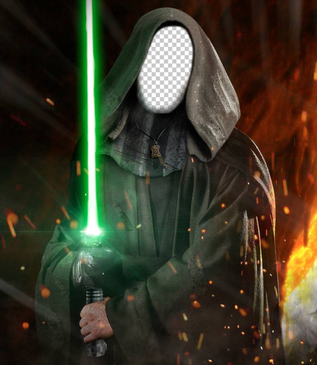 Photomontage to put your photo on the face of Luke Skywalker from Star Wars