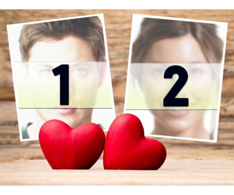 Photo effect of Love to upload two pictures