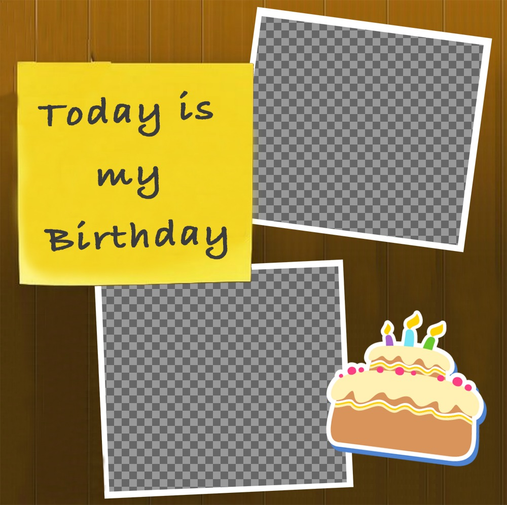Photo effect of Happy Birthday to upload two pictures