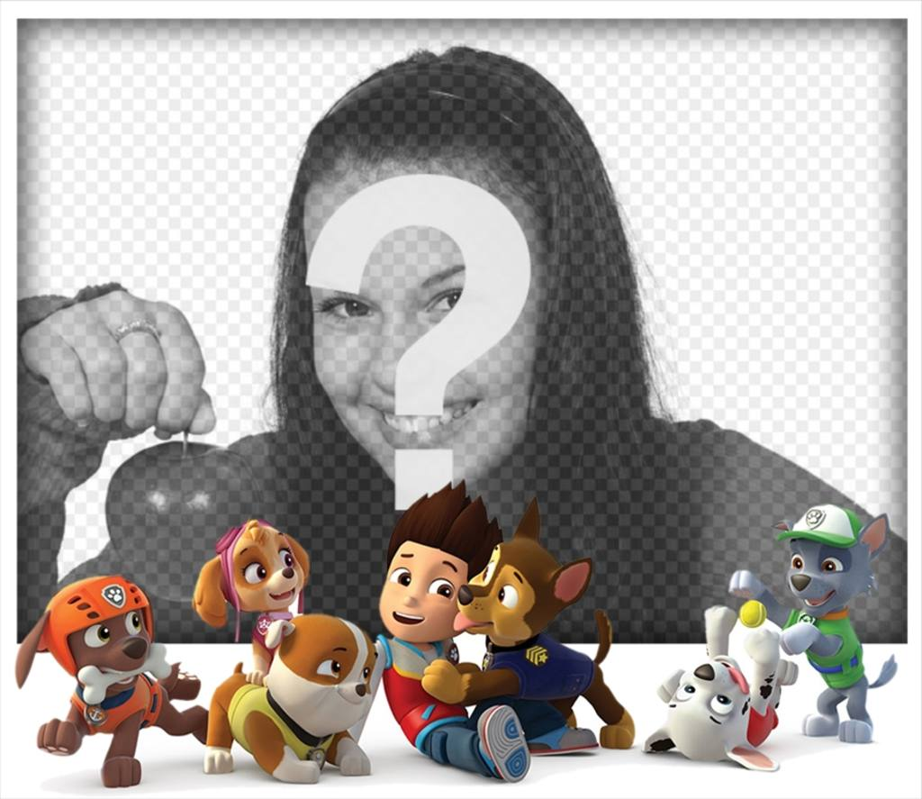 Upload your photo with all the characters of Paw Patrol