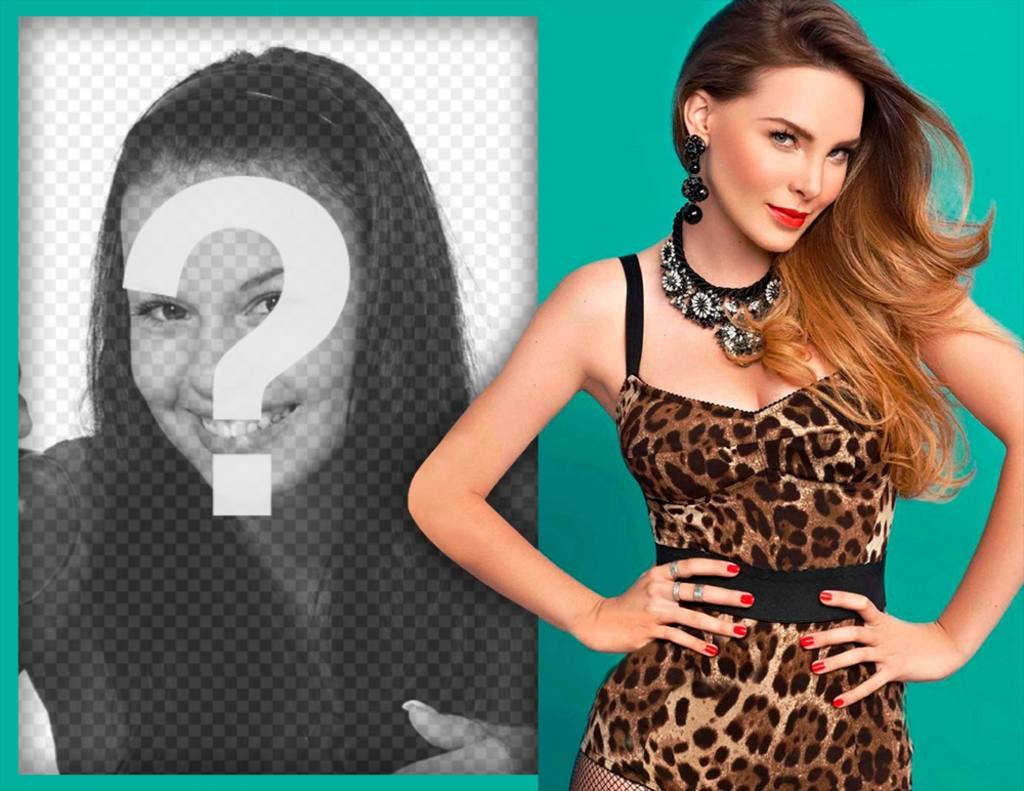 Photo effect to Belinda fans with to edit with a picture